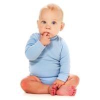 portrait of thinking baby boy